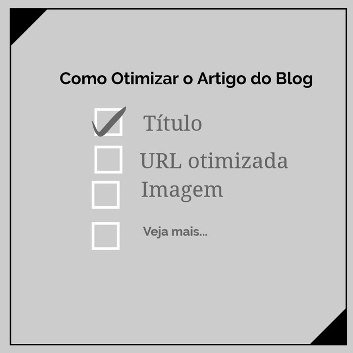 Como Otimizar o Artigo do Blog